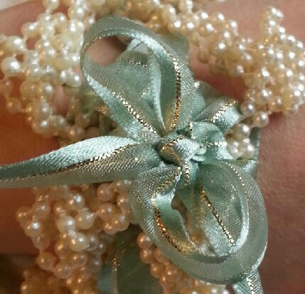 Mint and Pearl bracelet
